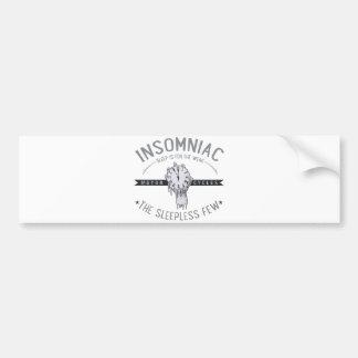 Insomniac Bumper Sticker