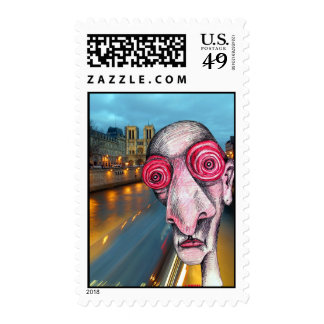 Insomniac Headed for Notre Dame Postage Stamp