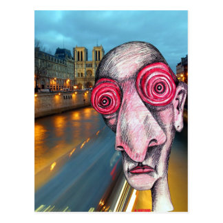 Insomniac headed for Notre Dame Postcard