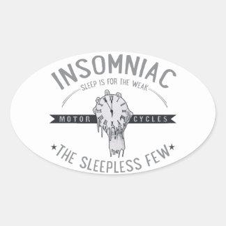 Insomniac Oval Sticker