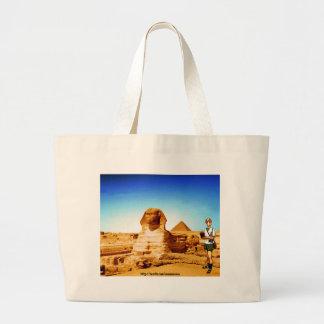 Insomniac Tourist Visits Egypt Sphinx Bag