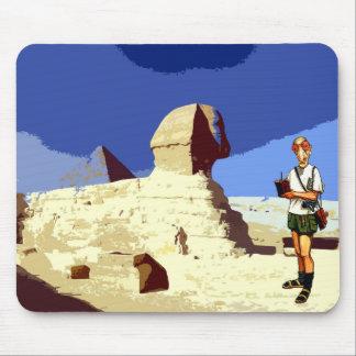 Insomniac Tourist Visits Egypt Sphinx Mouse Pad