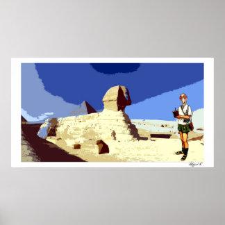 Insomniac Tourist visits Sphinx Print