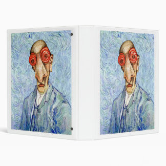 Insomniac Vincent Van Gogh 3 Ring Binder
