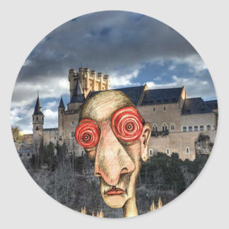 Insomniac Visits Alcazar-of-Segovia Classic Round Sticker