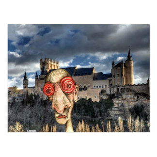 Insomniac Visits Alcazar-of-Segovia Post Card