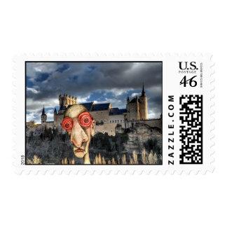 Insomniac Visits Alcazar-of-Segovia Postage Stamp
