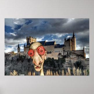 Insomniac Visits Alcazar-of-Segovia Print