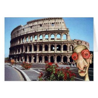 Insomniac Visits Rome Colisseum Card