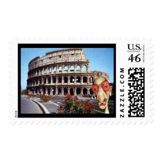 Insomniac Visits Rome Colisseum Postage Stamps
