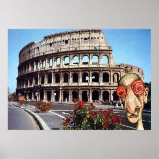 Insomniac Visits Rome Colisseum Posters
