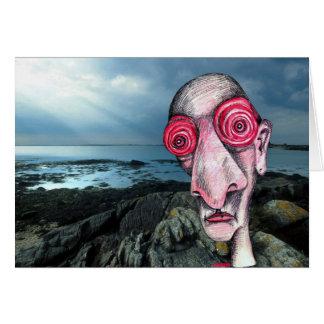 Insomniac Visits the Coast at Sene Greeting Card