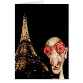 Insomniac Visits The Eiffel Tower Card