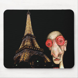 Insomniac Visits The Eiffel Tower Mouse Mat