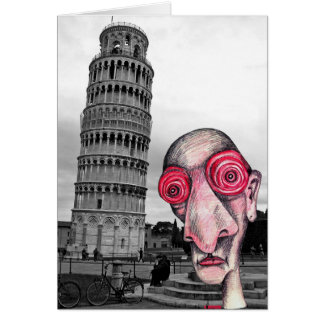 """Insomniac Visits """"The Leaning Tower of Pisa"""" Card"""
