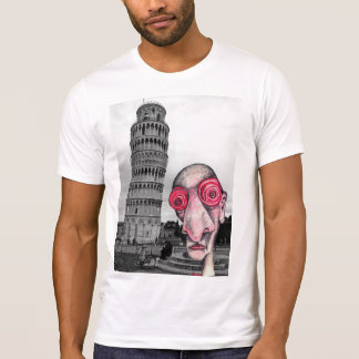 Insomniac Visits The Leaning Tower of Pisa T-Shirt