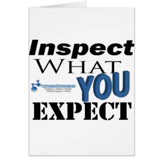 Inspect What You Expect Card