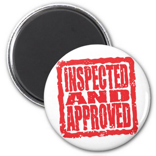 Inspected and Approved 2 Inch Round Magnet