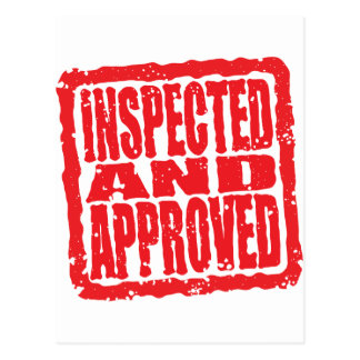 Inspected and Approved Postcard