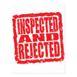 Inspected And Rejected Postcard