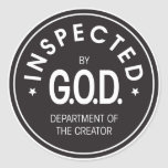 Inspected by God Sticker