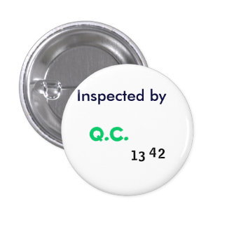 Inspected by Quality Control Button