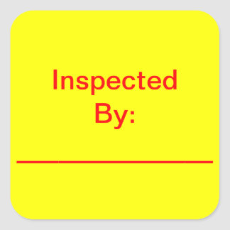 Inspected By Square Stickers