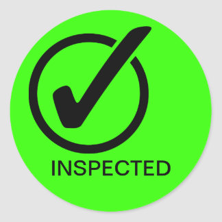 INSPECTED CLASSIC ROUND STICKER