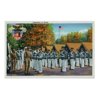 Inspection in Camp, Soldiers in Formation Poster