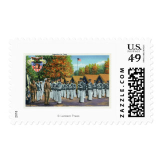 Inspection in Camp, Soldiers in Formation Stamp