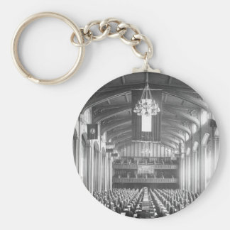 Inspection of quarters in Great Hall_War Image Basic Round Button Keychain