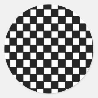 inspector blanco y negro etiqueta redonda
