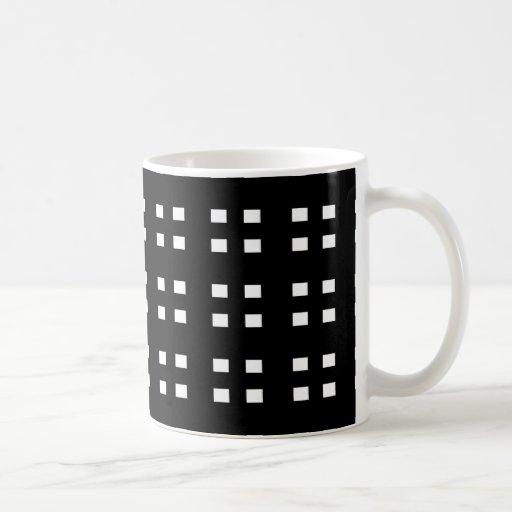 Inspector blanco y negro taza