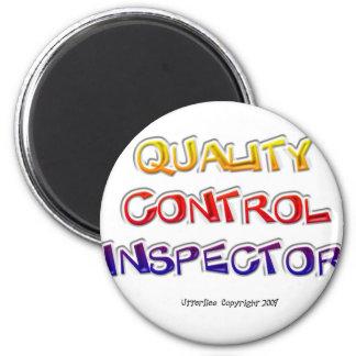 Inspector de control de calidad imán