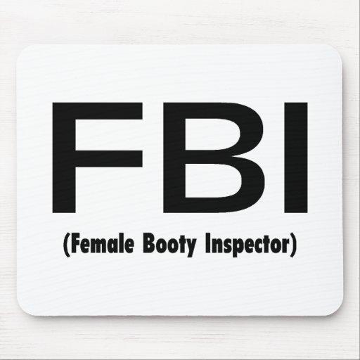 Inspector de sexo femenino del botín del FBI Tapete De Raton