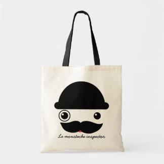 Inspector del bigote bolsa tela barata