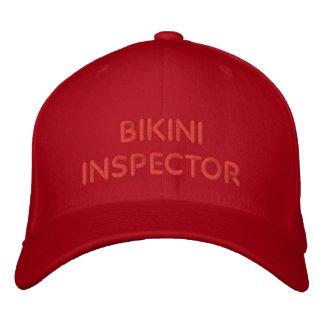INSPECTOR DEL BIKINI GORRAS BORDADAS