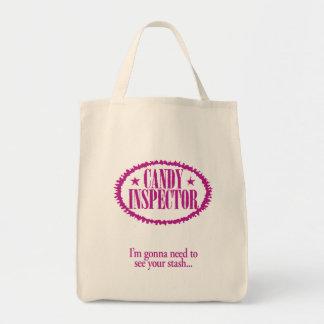Inspector del caramelo - voy a necesitar ver su es bolsa tela para la compra