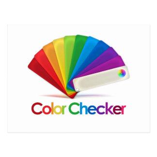 Inspector del color tarjeta postal
