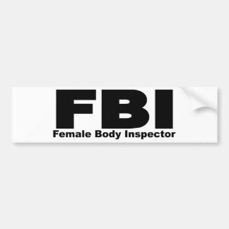 Inspector del cuerpo femenino pegatina de parachoque