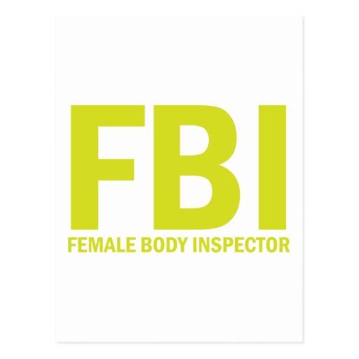Inspector del cuerpo femenino del FBI - amarillo Tarjetas Postales