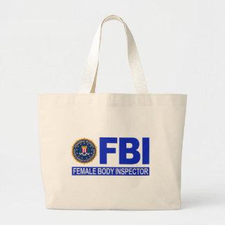 Inspector del cuerpo femenino del FBI Bolsa Tela Grande