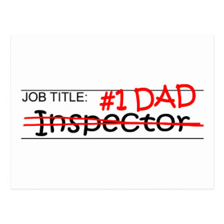 Inspector del papá del trabajo tarjetas postales