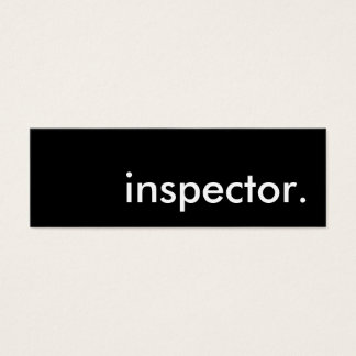 inspector. mini business card