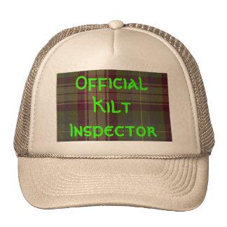"""""""Inspector oficial de la falda escocesa """" Gorros"""
