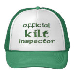 Inspector oficial de la falda escocesa gorros bordados