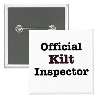 Inspector oficial de la falda escocesa pin