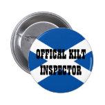 Inspector oficial de la falda escocesa pin redondo 5 cm