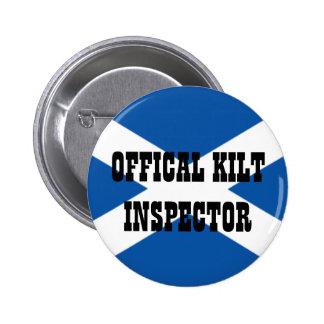 Inspector oficial de la falda escocesa pins