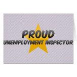 Inspector orgulloso del desempleo felicitación